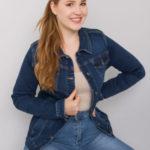 Dámská džínová bunda plus size YK881 – FPrice