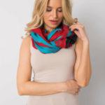 Červený a modrý šátek s potiskem