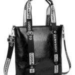 LUIGISANTO Černá velká dámská taška