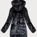 Krátká dámská bordó-černá oboustranná zimní bunda (B9581-71)