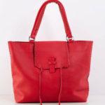 Červená velká taška přes rameno