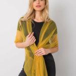 Žlutý šátek s aplikací