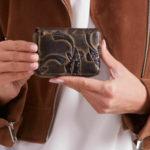 Dámská černohnědá kožená peněženka s reliéfem
