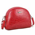 Červená dámská kabelka přes rameno LUIGISANTO
