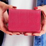 Dámská růžová obyčejná peněženka