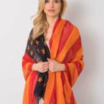 Červený a oranžový šátek s potiskem