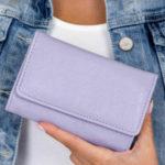 Světle fialová dámská peněženka z ekologické kůže