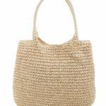 Béžová tkaná taška