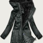 Voděodolná černá dámská bunda typu bundy do bouřky (H1000-00)