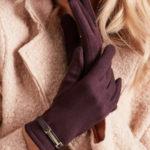 Klasické dámské rukavice v hnědé barvě