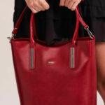 Dámská kabelka z třešňové kůže