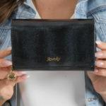 Dámská černá lakovaná peněženka