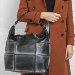 Černá a stříbrná patchworková taška