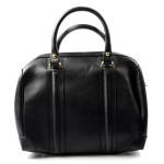 Kožená luxusní menší černá kabelka Karine