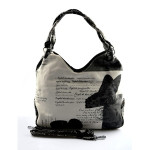 trendy kabelka s černým vzorem Madona