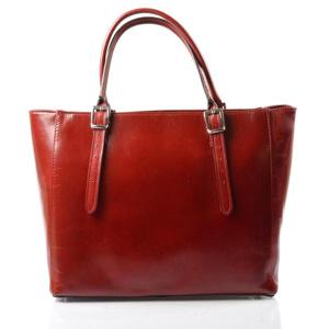 d35b95811a Kožená luxusní velká červená kabelka Havelan