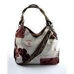 Krémová trendy kabelka s hnědým vzorem Madona