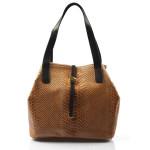 Kožená luxusní menší béžová kabelka Elen