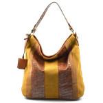 hnědá designová filcová kabelka Sandrine