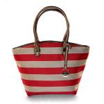Barevná kabelka s červenými pruhy Alice