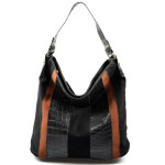 černá designová filcová kabelka Sandrine