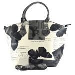 Černo bílá kabelka do ruky