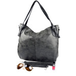 Černo-šedá kabelka na rameno Fillesi