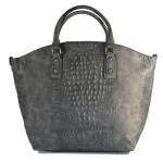 černo-šedá kabelka s krokodýlím vzorem Adele