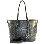 Černo-šedá kabelka s krokodýlím vzorem Feather