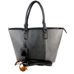 Černošedá kabelka Faustina