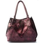 červená bordó designová kabelka dorine