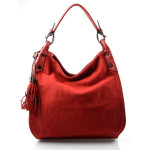červená designová filcová kabelka Julia
