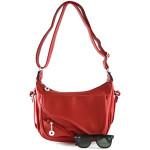 Červená kabelka na rameno Cristina