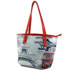 Červená kabelka s tištěným motivem Darlene