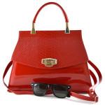 Červená lakovaná kabelka do ruky Rebelia