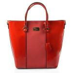 Červená lesklá kabelka Moline