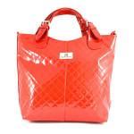 Červená značková kabelka do ruky Edine