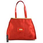 Červená značková kabelka do ruky Mirabell