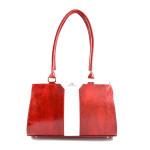 Červeno bílá značková kabelka na rameno Levardina