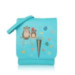 Crossbody Owl Love – modré