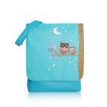 Crossbody Owl Moon – modrá