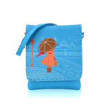 Crossbody Raining City modré