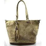 Duhová moderní lesklá zlatá kabelka na rameno Rosalinda