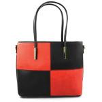 Elegantní černo červená menší kabelka joslin