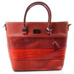 Elegantní červená bordó kabelka kabelka do ruky Silane
