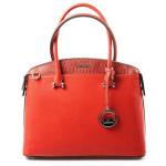 Elegantní kufříková červená kabelka do ruky Anesi