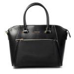 Elegantní kufříková menší černá kabelka do ruky Sicil