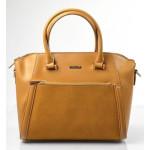 Elegantní kufříková menší hnědá kabelka do ruky Sicil
