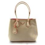 Elegantní kufříková světle krémová kabelka Alize