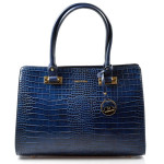 Elegantní modrá kabelka do ruky Dafne